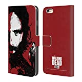 Official AMC The Walking Dead Bloody Face Rick Gore Leather Book Wallet Case Cover for iPhone 6 Plus/iPhone 6s Plus