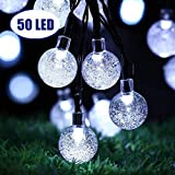 Garden Solar Lights, 24 Ft 50 LED Outdoor String Lights, Waterproof Crystal Ball Fairy Lights Solar Powered, Decorative Lighting for Home, Garden, Party, Festival [Energy Class A++]