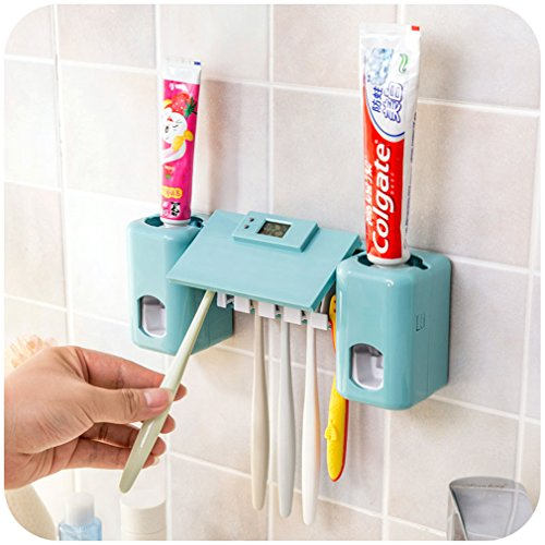 HOLDESS Bathroom Accessories Products Clock Automatic Toothp
