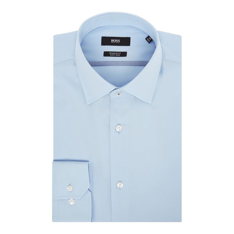 """(ヒューゴ ボス) Hugo Boss メンズ トップス シャツ Poplin Contrast Trim Shirt [並行輸入品] B07FC7FRVV 17.5"""""""