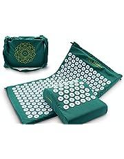 Acupressuurmat Set gemaakt van Memory Foam + Cushion + Bag   Model 2021   Acupunctuurmat   Massagemat   Naaldmat   Fakirmat