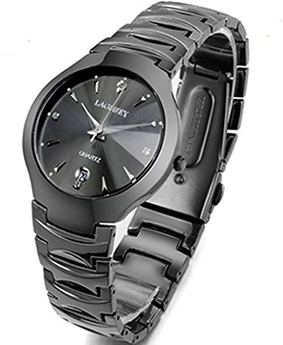 HK Lagmeey marca moda hombres 100 m Natación Buceo reloj deportivo reloj de pulsera regalo de lujo relojes de cuarzo de acero de tungsteno