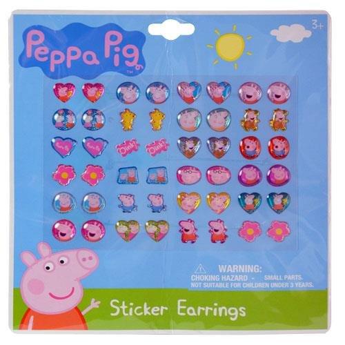Nickelodeon Peppa Pig 24 Pair Sticker Earrings(2 Pack)