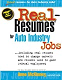img - for Real-Resumes for Auto Industry Jobs book / textbook / text book