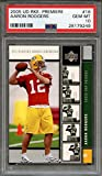 #2: 2005 ud rookie premiere #16 AARON RODGERS green bay packers rookie card PSA 10 Graded Card