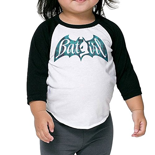 (Batgirl Yvonne Craig Kids 3/4 Sleeve Raglan Baseball Tee Shirt 2-6 Toddler)