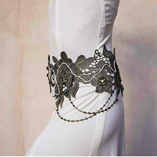 Cinturón joya plata vieja