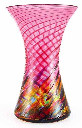 Vase Glass Cranberry (Glass Eye Studio 8.5