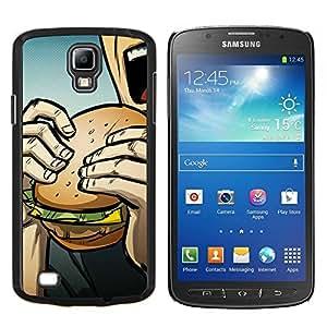 LECELL--Funda protectora / Cubierta / Piel For Samsung Galaxy S4 Active i9295 -- Arte pop de Burger --