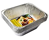 eHomeA2Z Heavy Duty Half Size Extra Deep Disposable Aluminum Foil Steam Table Pans for Cooking, Roasting, Broiling, Baking - 9'' x 13'' x 4'' (10)