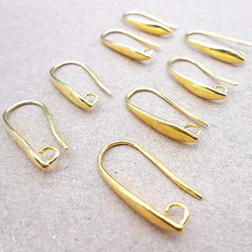 10pcs NEW Making DIY Jewelry Findings Gold Earring Pinch Hooks Earwire (Converter Gauge Earring)