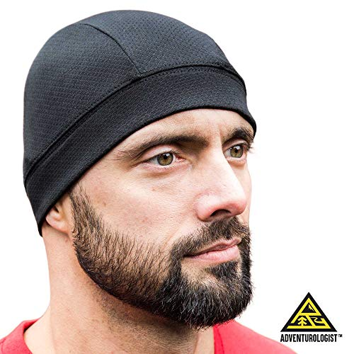 - SKULL CAP [BLACK 2 PACK] , Best for Men and Women as a Helmet Liner, Thermal Cycling Beanie, Running Hat, Do-Rags and Workout Caps, Perfect under Motorcycle Helmets, Covers Ears and Wicks Moisture