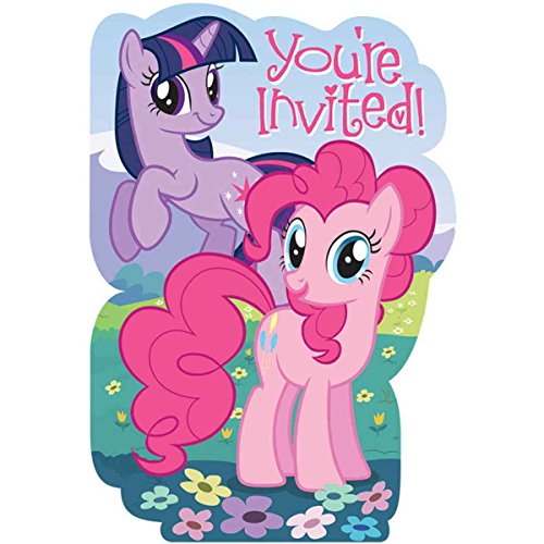 My Little Pony Friendship is Magic Birthday Girl Party Invitation 16 Count Save the Date Stickers