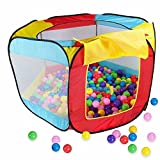 Indoor Outdoor Ball Hut Hideaway Tent, Play Hut with Zippered Storage Bag