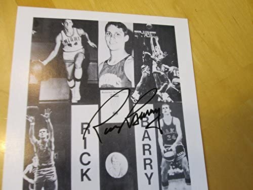Guaranteed Authentic RICK BARRY Signed Warriors//Universiy of Miami 6x8 Photo