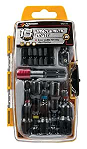 Performance Tool W9179 Impact Driver Bit Set 13-Piece