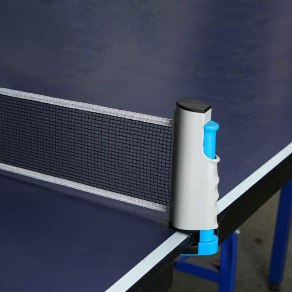 Filet de tennis de table r/églable et r/étractable de qualit/é sup/érieure en polyester et coton Portable avec syst/ème de clip /à ressort pour amateurs de tennis de table