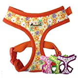 IPuppyone Adjustable Dog Soft Harness 'Crazy Daisy ' Size:Small Color:Pink
