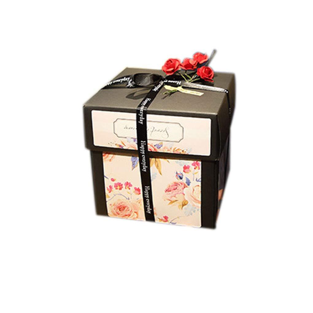 Pegcdu Esplosione Gift Box Amore Memoria Fai da Te Album Fotografico Regalo di Compleanno a Sorpresa Box