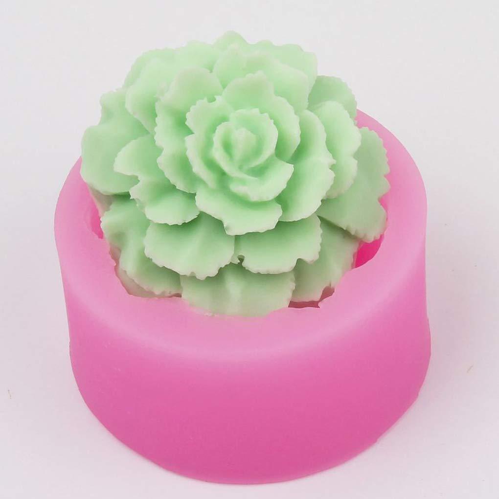 Cdrox Rosa Silicone del commestibile Muffa DIY a Forma di Fiore 3D della Torta del Fondente Sapone Handmade muffe Strumento di Cottura