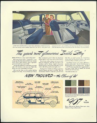 The year's most glamorous Inside Story Packard 110 Deluxe Touring Sedan ad 1941