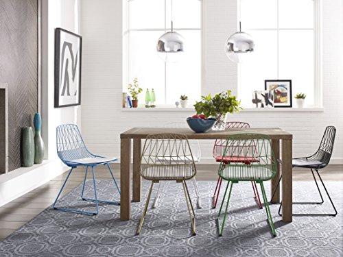 Elle Decor CHRVIVWHTM01 Décor Vivi Dining Chair Set, White
