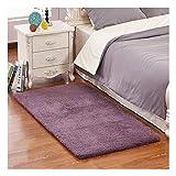 Ultra Soft Bedroom Stepping Carpet,Decorative Living Room Shaggy Area Rug,Fluffy floor Mat with Anti-Slip Bottom (Purple,31'' x 47'')