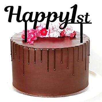 Cake Topper Happy 1st Birthday