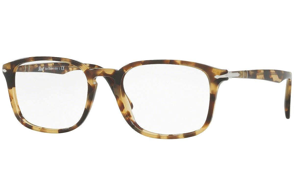 9f2fb00c23 Amazon.com  Persol PO3161V Eyeglasses 54-19-145 Brown Beige w Demo Clear  Lens 1056 PO3161-V PO 3161-V PO 3161V  Clothing