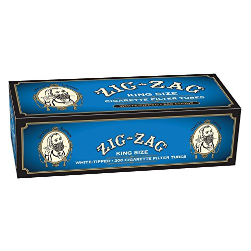 (Zig Zag Cigarette Tubes Light King Size - 200ct Box)
