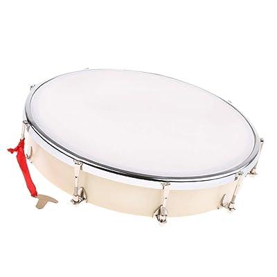 Shiwaki Tambor De Mano Ajustable Pandereta Mini Instrumento De Percusión Juguetes para Niños: Juguetes y juegos
