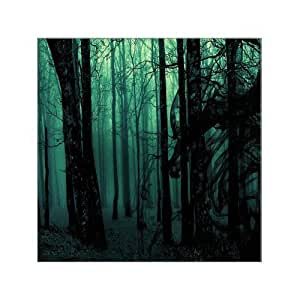 "Abstract Art Devil Forest Tree Canvas Print 12"" x 12"" Inch, Canvas Print Landscape On Canvas Wall Art Home and Office Decor Artwork, Stretched and Framed"