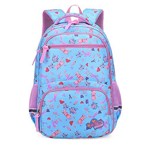Lomsarsh Backpack Girl Fashion Large Capacity Waterproof and Load-reducing Cartoon Kids Backpack Girls Fashion Casual Large Capacity Waterproof Offload Cartoon Schoolbag