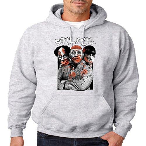 Juiceclouds | Mens Three Stooges Hooded Sweatshirt Still Alive Zombie -