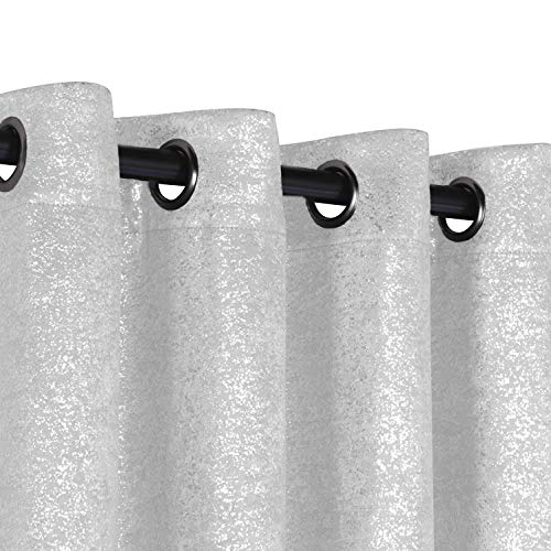 GoodGram 2 Pack Sparkle Chic Heavy Duty Thermal Blackout Curtain Panels - Assorted Colors -