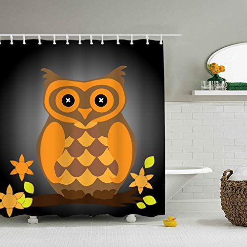 PQFLICS Creative Adult Halloween Invitations 3D Printing Polyester Waterproof Shower Curtain-Bathroom Accessories ()