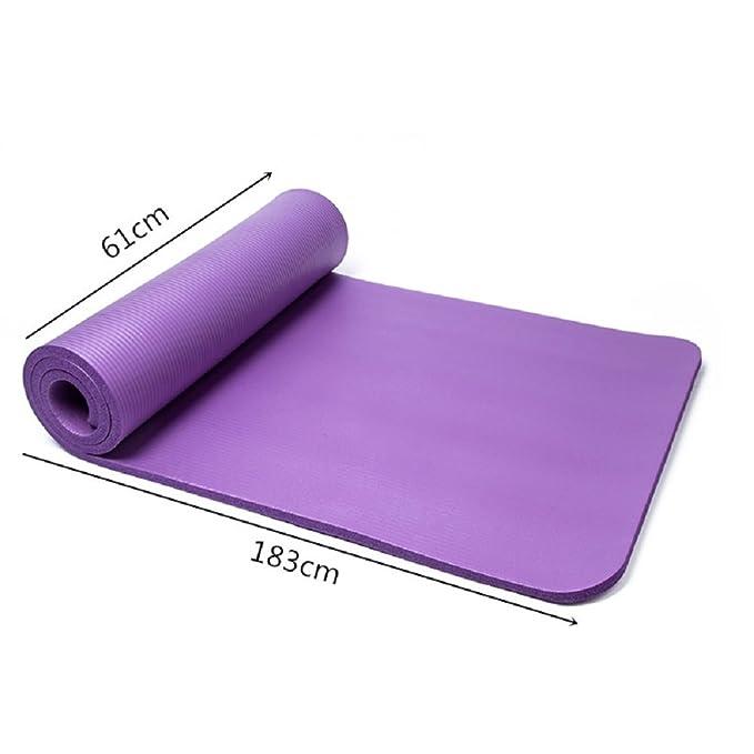 QUBABOBO Estera de Yoga 15mm Gruesa Antideslizante Esterilla para Ejercicio Pilates Fitness Workout y Gimnasia con Bolsa de Transporte y Correa