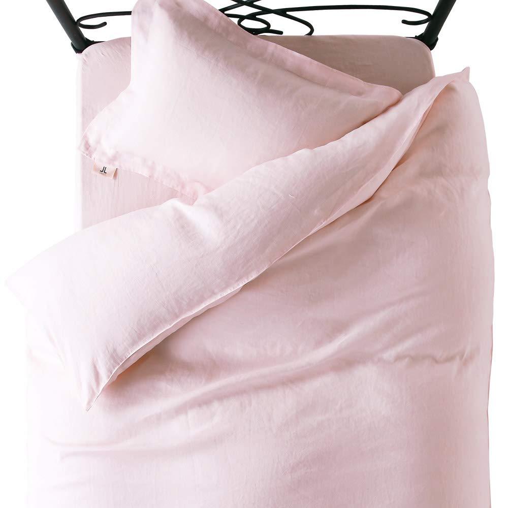 LANCETTI ロイヤルリネン 麻100% 敷き布団カバー セミダブルサイズ 125×215cm : ピンク B07NDWRG12 ピンク セミダブル 125×215cm
