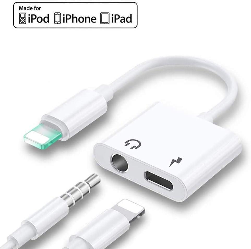PALMEEDOR 【2020認証版】 iPhone イヤホン 変換ケーブル アダプタ 3.5mm ライトニング アダプター 変換ケーブル 2in1 音楽再生 急速充電 (IOS12 IOS13対応)