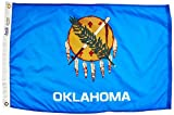 Annin Flagmakers Model 144350 Oklahoma State Flag Nylon SolarGuard NYL-Glo, 2×3 ft, 100% Made in USA to Official Design Specifications