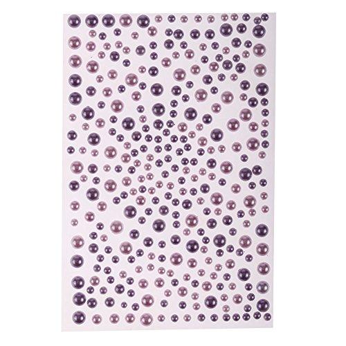 CraftbuddyUS 325 Lilac/Purple Mix Pearl Self Adhesive Diamante Stick on Rhinestone Sticky Gem