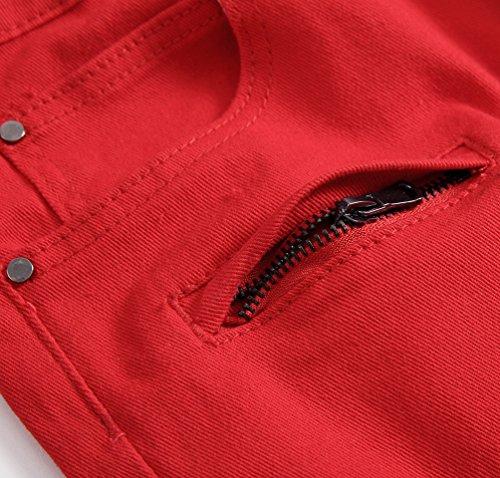 Jeans Casuale Distrutto Sguardo Denim Pantaloni Corti Moto Mode Strappati Yiiquan Pantaloncini 2 Uomo Stile UwqC55