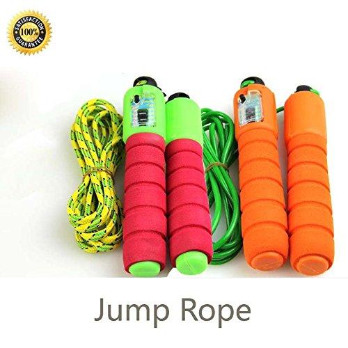 BeautyMood 2 pair Adjustable Counter Jump Rope for Kids / Women/ Man Outdoor Sports.