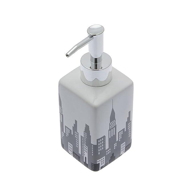 Ablage//Keramik//eckig//mit Stadt-Muster//Gr/ö/ße Carpemodo Zahnputzbecher 6x6x11 cm//Schwarz Grau Wei/ß//Kollektion City