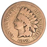 1859 U.S. Indian Head Copper-Nickel Penny Coin Penny Circulated
