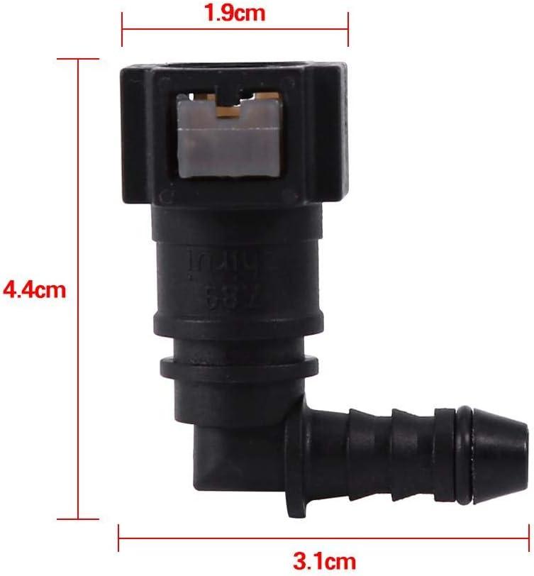 Connecteur m/âle 6.30 D/éverrouillage rapide du connecteur de conduite de carburant pour connecter le coupleur de tuyau de moto ID6