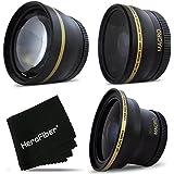 HeroFiber PRO 58mm Lens Attachment for all 58mm Lenses (4) Fisheye + Tele & Wide Angle Set