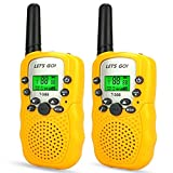Tisy Toys for 5-8 Year Old Boys, Walkie Talkies for Kids Gifts for 2-6 Year Old Boys Toys for 3-12 Year Old Girls PMR446MHz 8 Channels Yellow TsUKDJT03