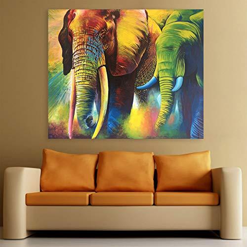 Inephos Wood Animals Painting, Multicolour, 85 X 70 cm