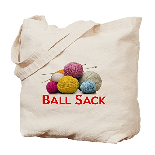 CafePress Knitting Ball Sack Natural Canvas Tote Bag, Cloth Shopping Bag